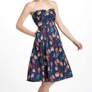 Maeve (Anthropologie) Bird Print Dress, sz 10
